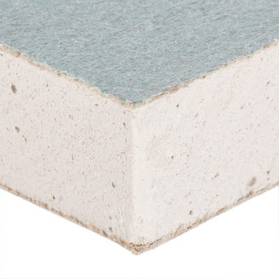 12.5mm British Gypsum Gyproc Moisture Resistant Plasterboard Tapered 2400mm x 1200mm (8' x 4')