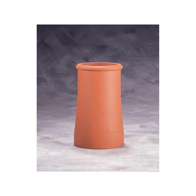 24'' Redbank Roll Top Chimney Pot Terracotta Red