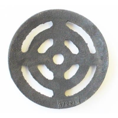 114mm Ø x 9mm Gully Grating Circular Grid Black Coated