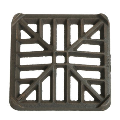 120mm x 120mm x 13mm Gully Grating Square Grid Black Coated