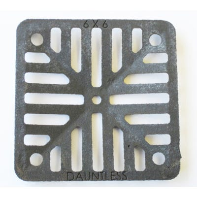 152mm x 152mm x 6mm Gully Grating Square Grid Black Coated