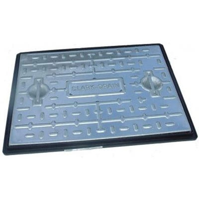 450mm x 450mm Clark-Drain Galvanised Steel Solid Top Manhole Cover & Frame