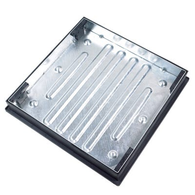 600mm x 600mm Clark-Drain 10T GPW Recessed Block Paviour Manhole Cover & Frame