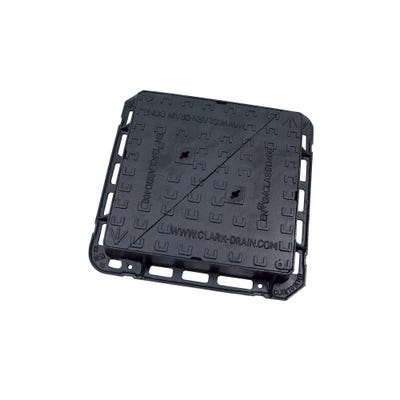 600mm x 600mm Clark-Drain D400 Iron Double Triangle Manhole Cover & Frame