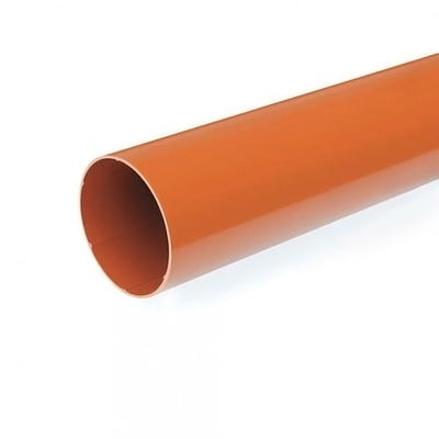110mm Polypipe Underground Pipe Plain Ended 3000mm UG430