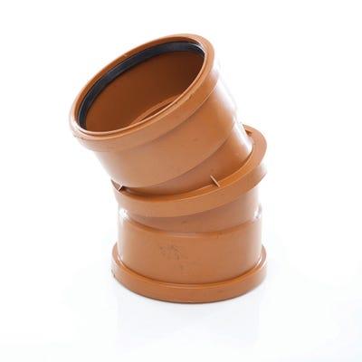 110mm Polypipe 0 to 30° Adjustable Bend Double Socket UG494