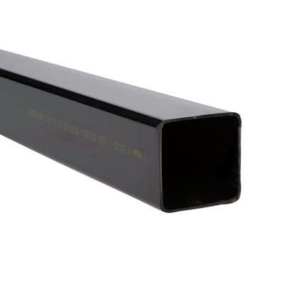 65mm Polypipe Square Downpipe 4000mm Black RS223B
