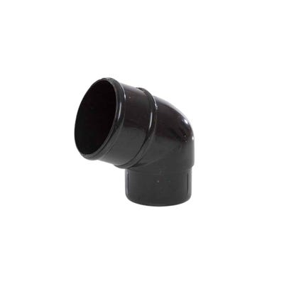 68mm Polypipe 112.5° Round Downpipe offset Bend Black RR127B