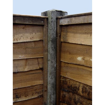 8' Slotted Concrete Corner Post 125mm x 125mm x 2440mm
