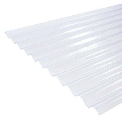 Clear Corrugated PVC Roof Sheet 755mm x 1828mm (6' x 2.5')