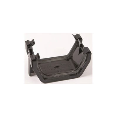 112mm Polypipe Square Gutter Union Bracket Black RS202B