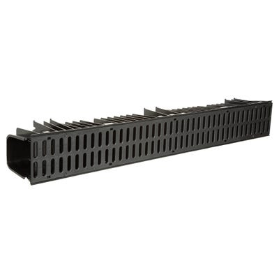 1000mm Clark-Drain A15 Black Polypropylene Domestic Channel & Slotted Mesh Snap Lock Grate