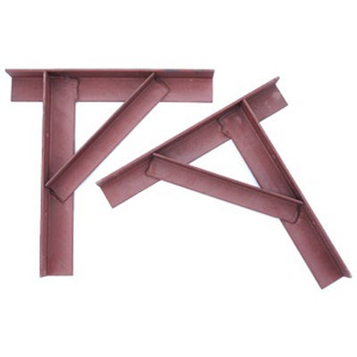 75mm x 75mm Gallow Bracket Chimney Support 1 Pair