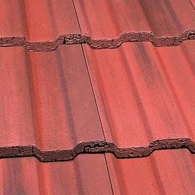 Marley Ludlow Plus Interlocking Roof Tile Concrete Old English Dark Red 387mm x 230mm