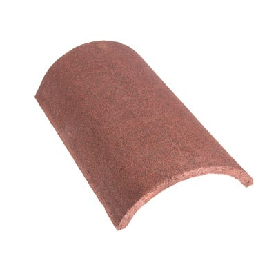 Marley Segmental Half Round Ridge Tile Concrete Dark Red 457mm x 248mm