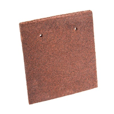 Marley Plain Eaves Tile Concrete Dark Red 200mm x 168mm