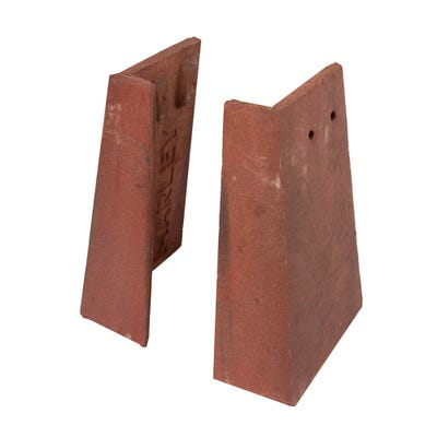 Marley Ext Angle Tile Concrete Right Hand Old English Dark Red 90° 267mm x 167mm