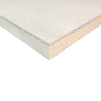 62.5mm Ecotherm Eco Liner Insulated Plasterboard 2400mm x 1200mm (8' x 4')