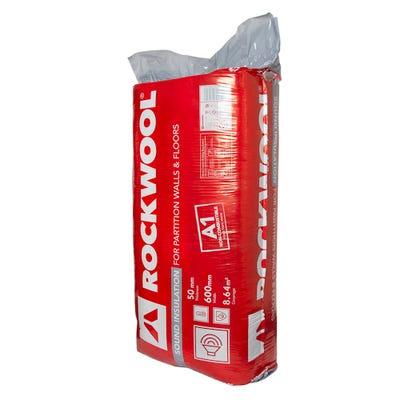 50mm Rockwool Sound Insulation Slab 1200mm x 600mm (8.64m²)