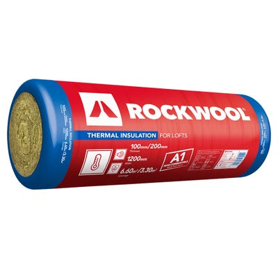 100mm Rockwool Thermal Insulation Roll 1200mm x 2750mm (6.6m²)