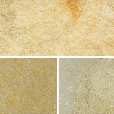 Bradstone Limestone Paving Patio Pack Honeymede Mixed 6 Size Pack (10.2m²)