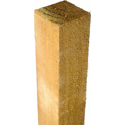 4'' x 4'' x 6' Grange Incised Treated Timber Fence Panel Post Brown