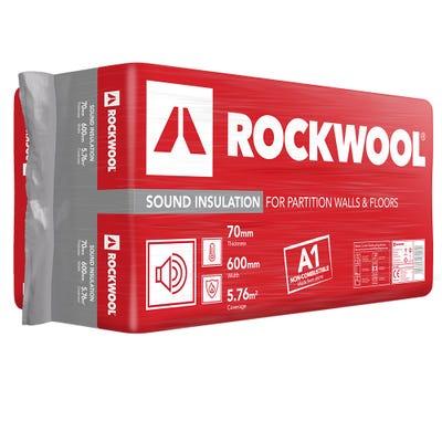 70mm Rockwool Sound Insulation Slab 1200mm x 600mm (5.76m²)