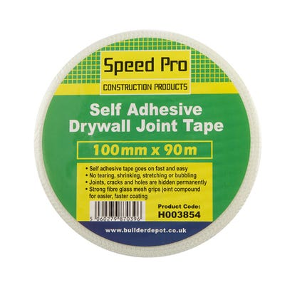 100mm Speed Pro Self Adhesive Drywall Joint Scrim Tape 90m