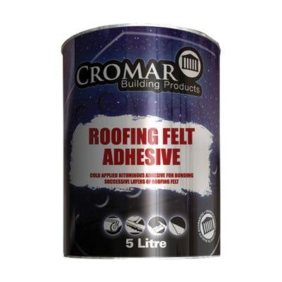 Cromar Bituminous Roofing Felt Adhesive 5L
