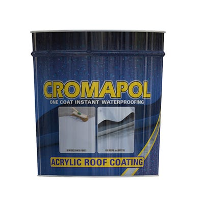 Cromar Cromapol One Coat Instant Waterproofing Acrylic Coating Black 2.5Kg