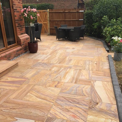 EM 20mm Rainbow Smooth Natural Sandstone Paving Patio Pack (15.3m²)