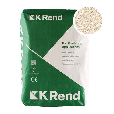 K Rend Silicone FT Textured Ivory Render Coat 25Kg Pallet of 40