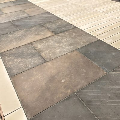 EM 20mm Sagar Cloudy Smooth Natural Sandstone Paving Patio Pack (15.3m²)