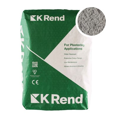 K Rend Silicone K1 Pewter Grey Scraped Render Coat 25Kg