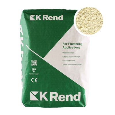 K Rend Silicone K1 Cream Scraped Render Coat 25Kg Pallet of 40
