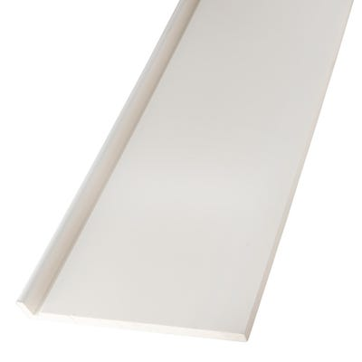 16mm x 250mm Primacell uPVC Fascia Board Single Leg 5000mm White