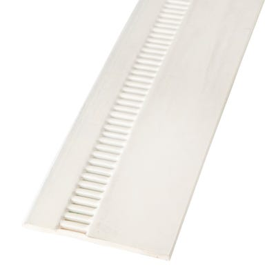 9mm x 150mm Primacell uPVC Soffit Board Vented Single Round Edge 5000mm White