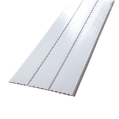 9mm x 300mm Primacell uPVC Hollow Soffit Board 5000mm White