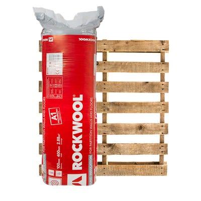 100mm Rockwool Sound Insulation Slab 1200mm x 400mm Pallet of 25 (72m²)