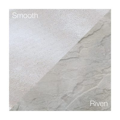 Bradstone 600mm x 600mm x 35mm Peak Riven Grey Pack of 20 (7.44m²)