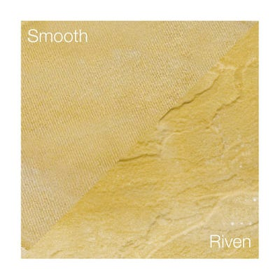 Bradstone 600mm x 600mm x 35mm Peak Riven Buff Pack of 20 (7.44m²)