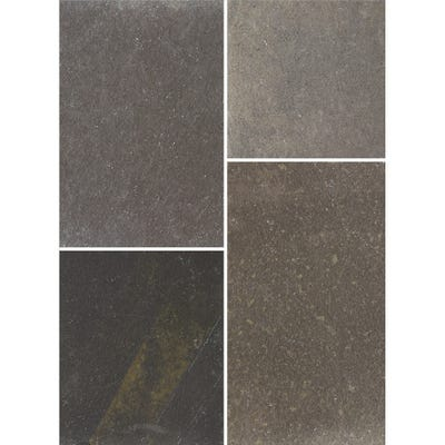 Bradstone 600mm x 600mm x 22mm Natural Limestone Blue Black Pack of 40 (14.9m²)