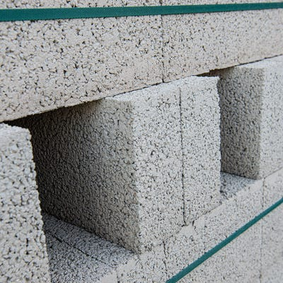 100mm Aero Block Dense Concrete Block 7.3N 215mm x 440mm
