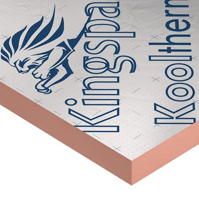 50mm Kingspan Kooltherm K108 Cavity Wall Board 1200mm x 450mm (4' x 1.5') Pack of 10 (5.4m²)
