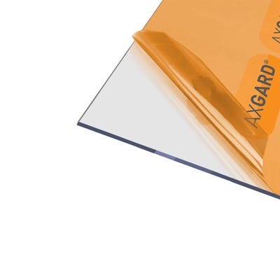 4mm Axgard Clear UV Protect Polycarbonate 1250mm x 1240mm