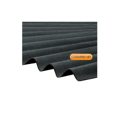 930mm x 2000mm Black Corrapol Bitumen Corrugated Sheet