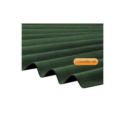 930mm x 2000mm Green Corrapol Bitumen Corrugated Sheet