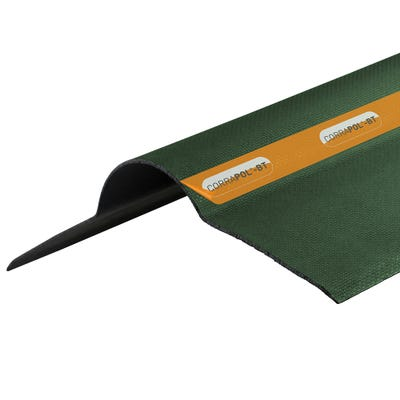 1000mm Green Corrapol Bitumen Corrugated Ridge