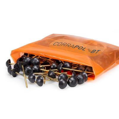 Corrapol Bitumen Black Corrugated Fixings Pack of 100