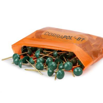 Corrapol Bitumen Green Corrugated Fixings Pack of 100
